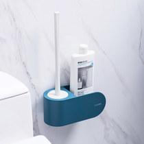 日式马桶刷洗厕所刷无死角软毛免打孔家用卫生间洁厕清洁套装架子