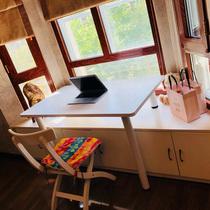 飘窗神器电脑桌居家阳台窗台书桌学生写字笔记本电脑桌学习桌定制