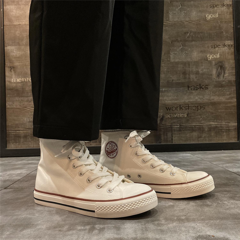 回力2020爆款ins潮夏季新款高帮帆布鞋女透气学生百搭港风板鞋女