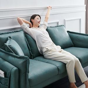 布艺沙发小户型北欧客厅双人三人简约现代公寓网红轻奢科技布沙发