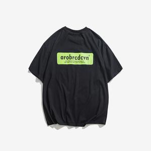 【Mr H】日系原宿风潮牌男款半袖T恤 夏季纯棉圆领短袖大码汗衫