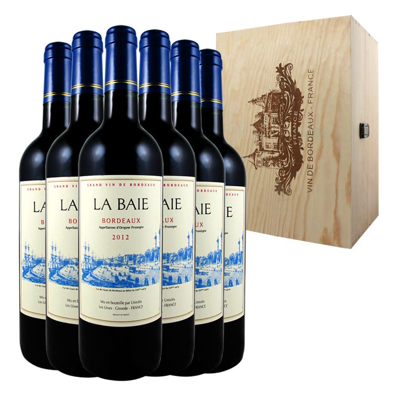2012年份法国红酒波尔多AOP红葡萄酒原瓶进口红酒整箱6瓶木箱整箱