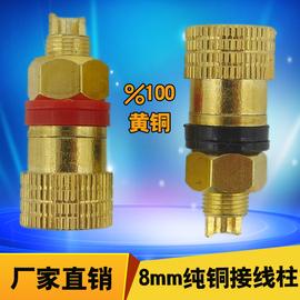 纯铜接线柱M8 全铜8mm充电机电焊机逆变器100A200A大电流接线端子图片