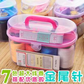 百宝箱针线盒小型便携针线包针线套装家用手缝缝衣手工多功能收纳