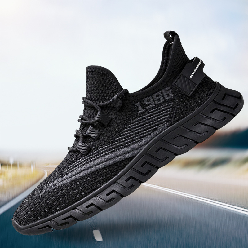 2021 new mens light wear-resistant casual shoes round head sneakers lace up student running shoes mens single shoes