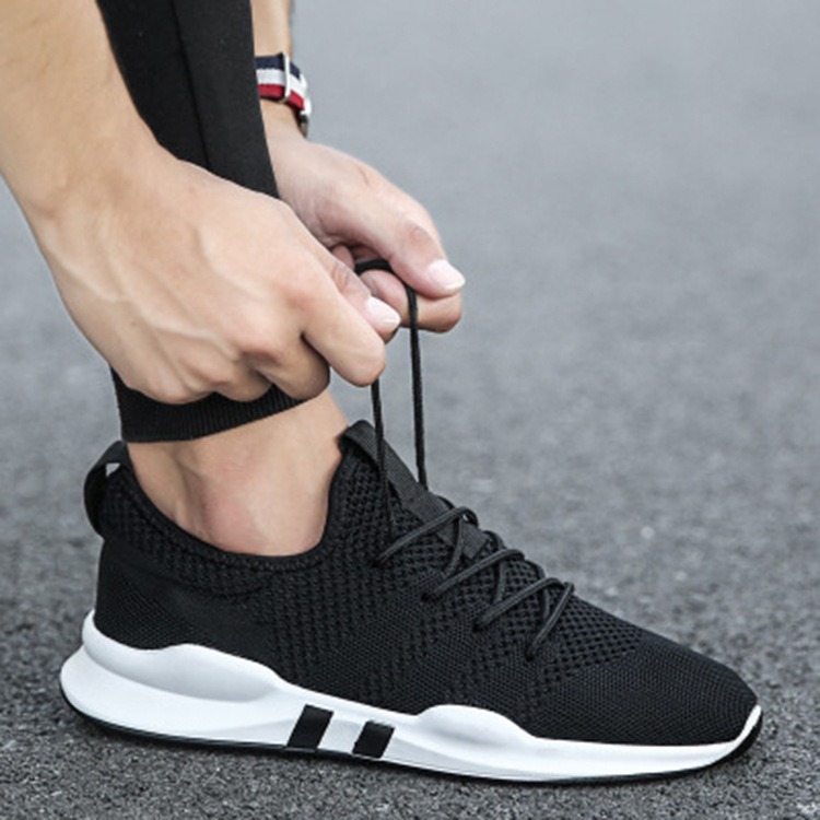 Fashion new sports and leisure shoes, Korean fashion running shoes, Zhenfei woven, breathable and versatile mens shoes