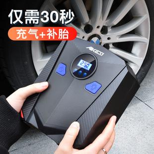 车载充气泵小轿车便携式汽车电动轮胎多功能12v加气泵车用打气筒品牌
