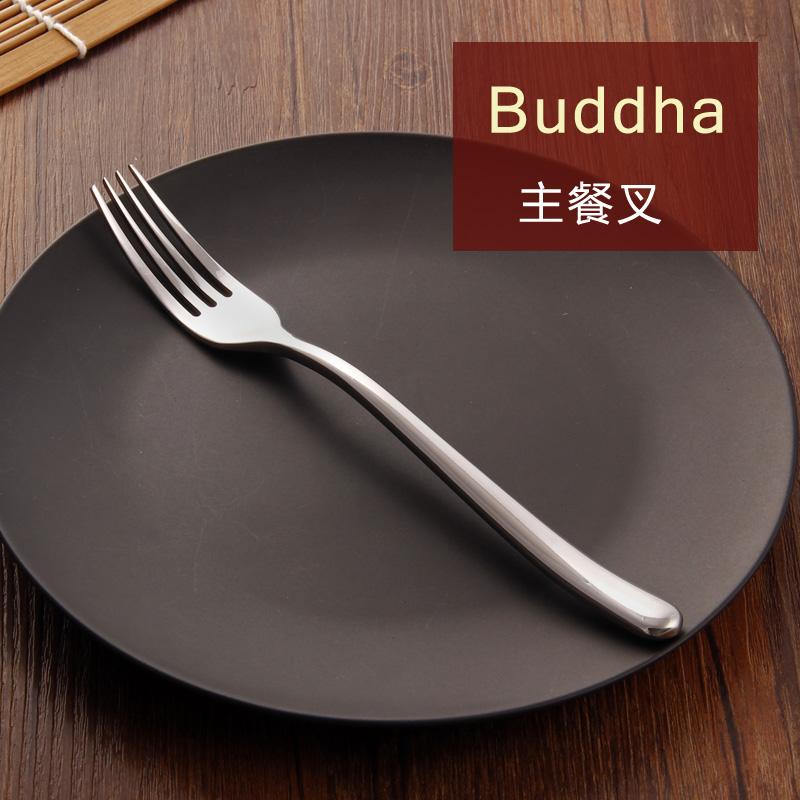 BUDDHA不锈钢主餐叉牛排叉意大利面叉子西餐叉食品叉吃饭叉子