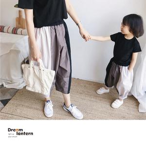 亲子装母女装洋气阔腿裤女童哈伦裤薄款宝宝裤子宽松潮2020春夏季