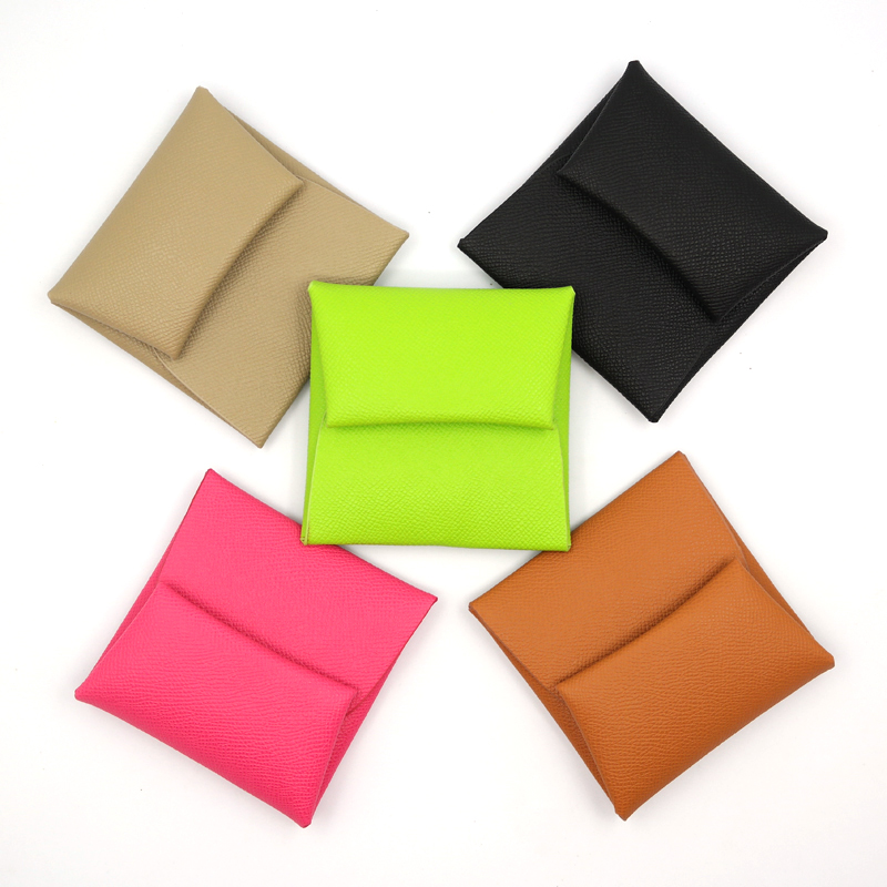 Korea Mini cute h family change purse womens short small purse thin coin bag card bag storage bag