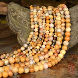 天然墨西哥疯狂玛瑙宝石珠宝圆珠散珠手工DIY半成品手链手串饰品