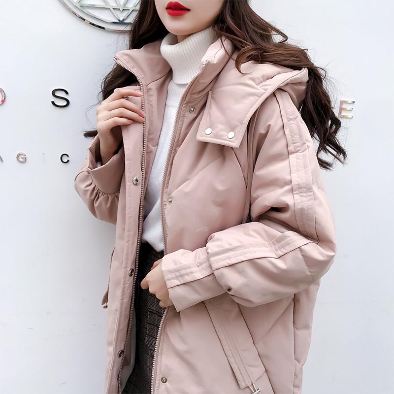 新款面包服宽松加厚棉袄棉衣外套2018羽绒棉服女中长款冬装chic