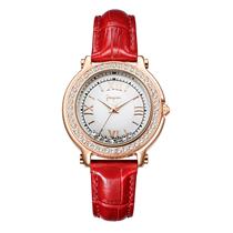 时装手表真皮防水女士石英手表7299雅琴