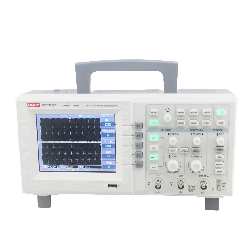 Uni-t unilide utd2202ce digital storage oscilloscope dual channel 200MHz 1gs / s sampling