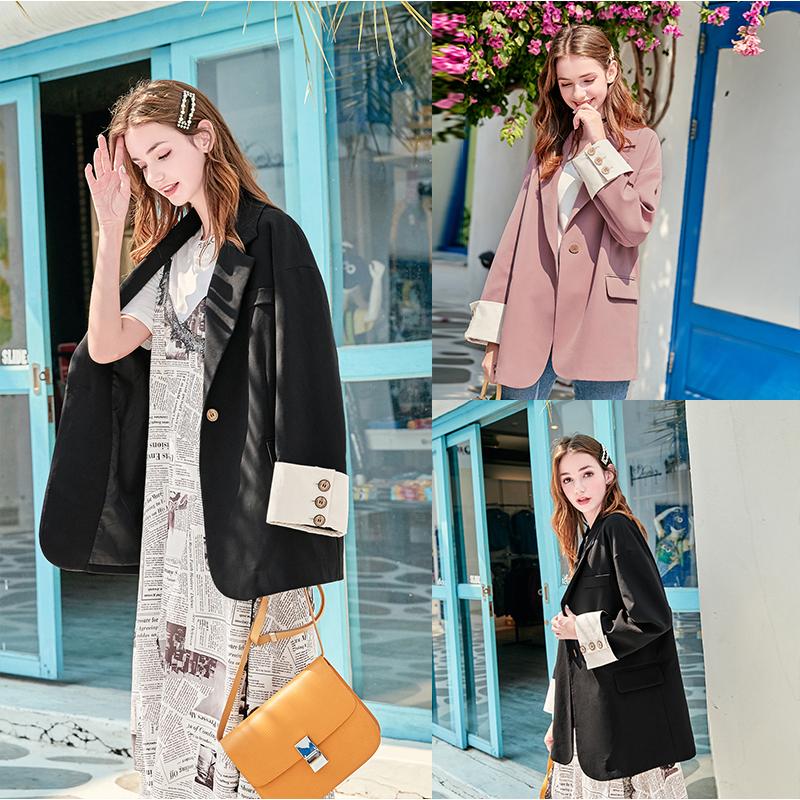 [MG小象欧美街拍时尚女装西装]MG小象chic西装外套女2019新月销量5604件仅售118元
