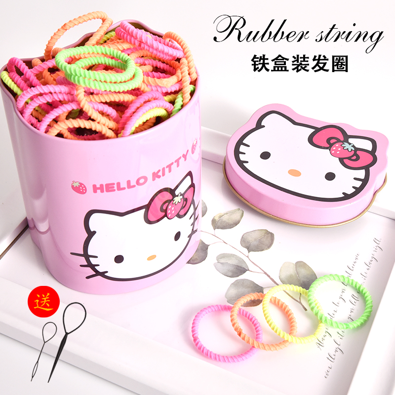 Childrens colorful headband does not hurt hair rubber band