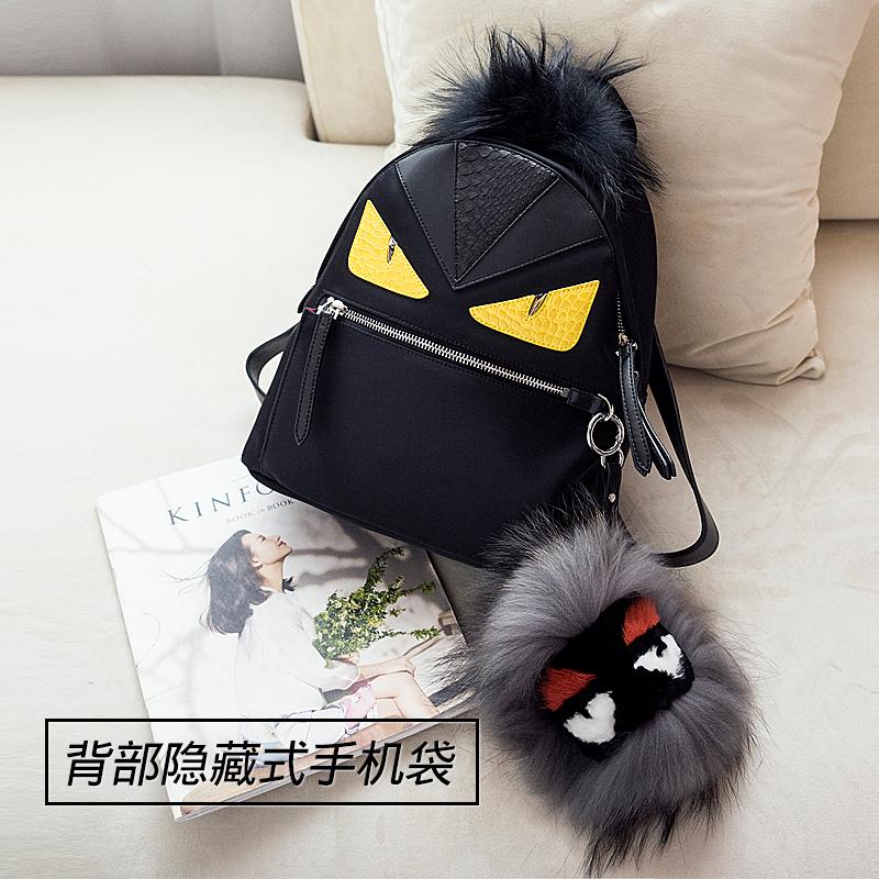 Backpack womens New Street Photo schoolbag leisure little monster bag little devil backpack backpack mens bag