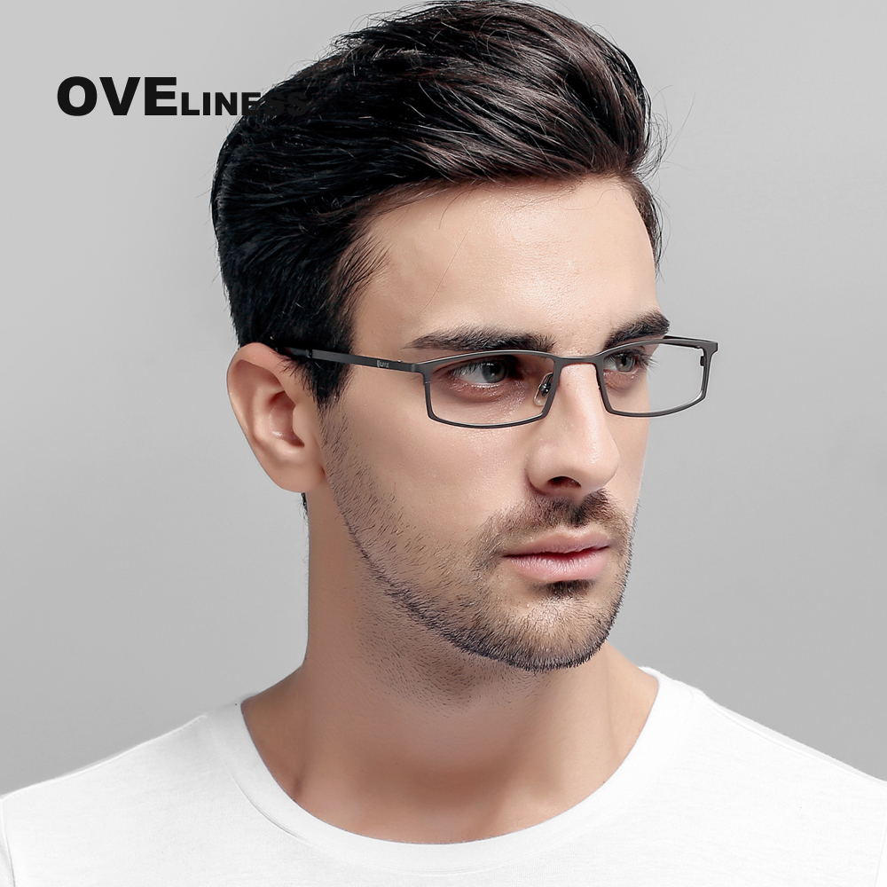 Full frame pure titanium myopia spectacle frame male business super light personality business big face fat can be equipped with glasses frame eyes
