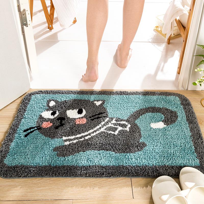 トイレのマット吸水バスルームの滑り止めマット入口のマットを乾かして家に入る時のマットドアとマットのトイレのじゅうたん。