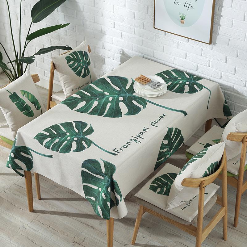 北欧ins餐桌绿植桌布布艺棉麻小清新茶几盖布家用圆形台布定做