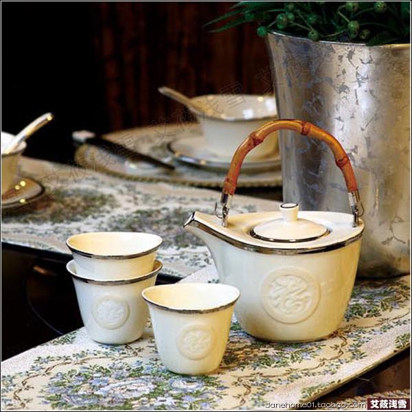 Fu meal seven head tea set matching pot single shot link has only one pot