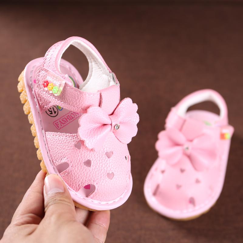 0-1-2歲寶寶學步鞋嬰兒鞋軟底女童涼鞋2018新款韓版女童小公主鞋