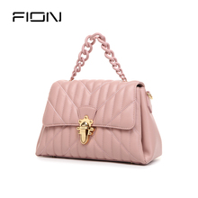 Fion / fianne one shoulder bag women 2019 new fashion small fragrance messenger bag leather handbag Kelly bag