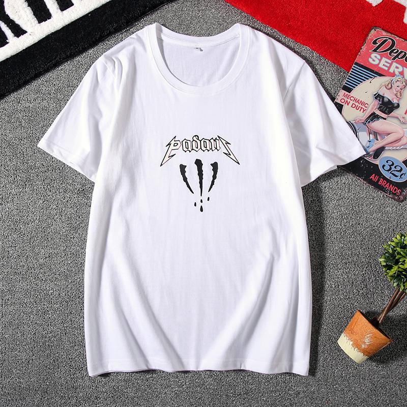 电商A041短袖圆领宽松潮大码男T恤印花已检测100%全棉D37P20