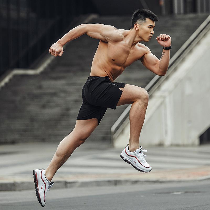 运动短裤男健身跑步宽松休闲夏季五分裤薄款篮球速干马拉松训练