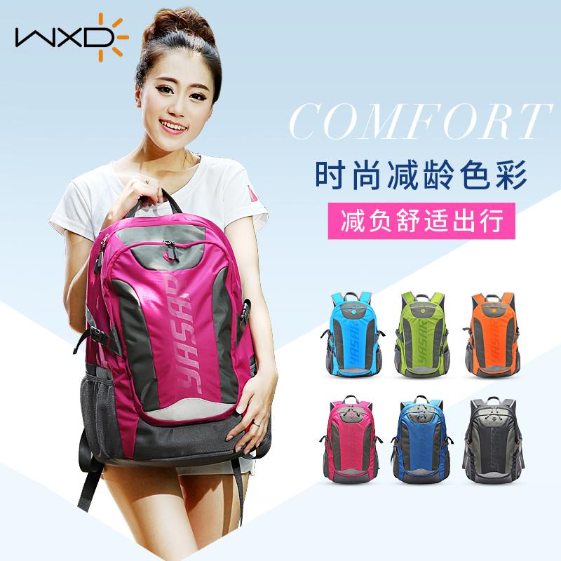 WxD / wanxinda lovers bag travel backpack womens backpack college students bag college wind book bag