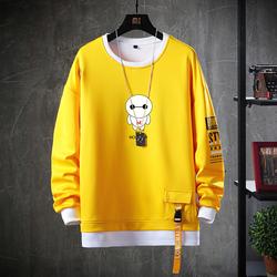 新款2019秋季男士长袖T恤青年学院风卫衣男学生韩版上衣W51-P35