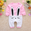 Siamese baby clothes newborn baby girl Romper M 0 3 years 6 months clothing cotton pajamas climbing clothes 1 Spring and Autumn