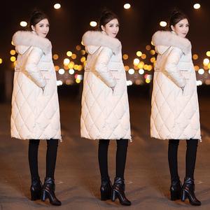 东大门羽绒服女2018新款中长款韩版冬装白色白鸭绒超大毛领外套潮