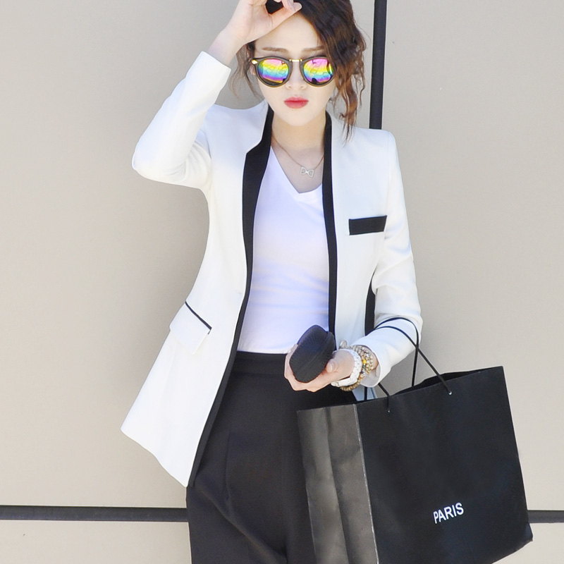 2018春秋装新款韩版修身显瘦休闲小西装外套西服女上衣中长款长袖