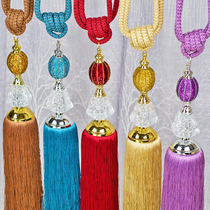 To Shang Liang piece crystal curtain strap hanging ball jewelry curtain buckle curtain hook strap rope Korean style