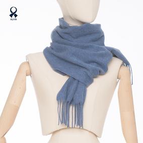 女冬天季100%纯羊绒高端定制网围巾