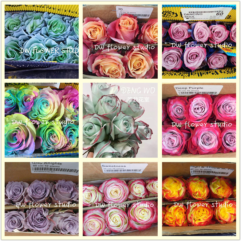 Ecuador imported rose fresh flower Mint Green family flower arrangement girlfriend ins wanghong flower shop