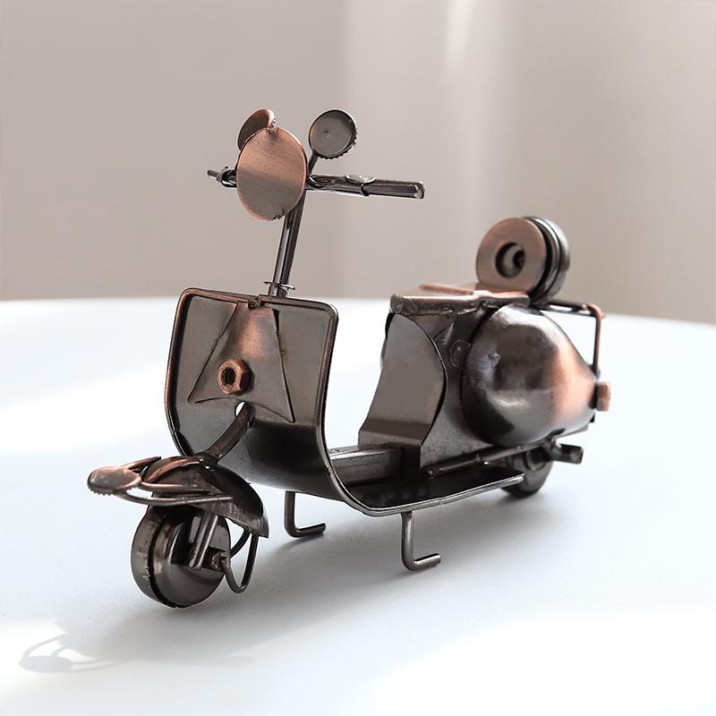 包邮手工铁艺小号摩托车模型工艺品摆设创意家居电视柜酒柜装饰品摆件