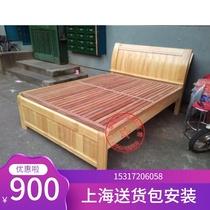 米定制柳桉木硬床板实木床板排骨架床垫加硬板床上海包邮无漆1.5