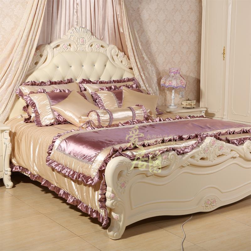 欧式公主床上用品四件套豪华样板房法式床品婚庆多件套装样板间