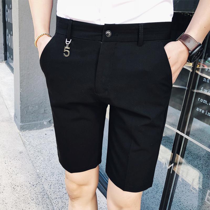 2019夏装新款男士休闲裤英伦时尚五分裤硬汉短裤中裤B372-K01-P50
