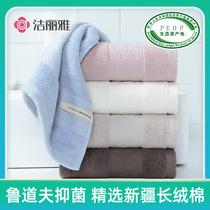洁丽雅毛巾2条纯棉洗脸家用大人男女不掉毛柔软全棉吸水加厚面巾