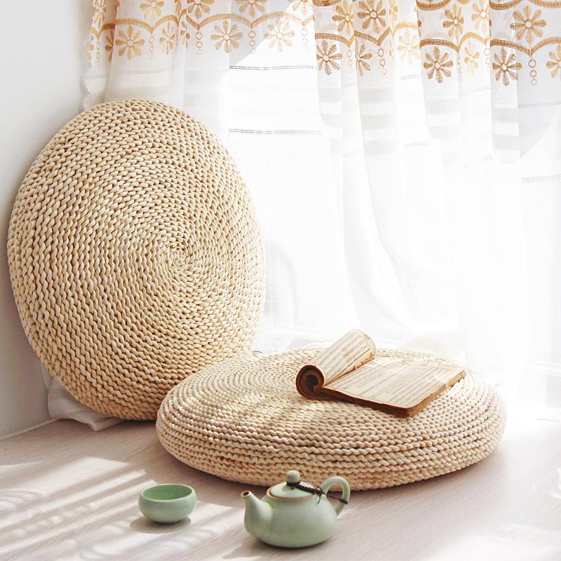 Крупный круглый футон утепленный Подушка подушки тазика татами окно Китайские исследования Zen Worship Zen Meditation Cushion