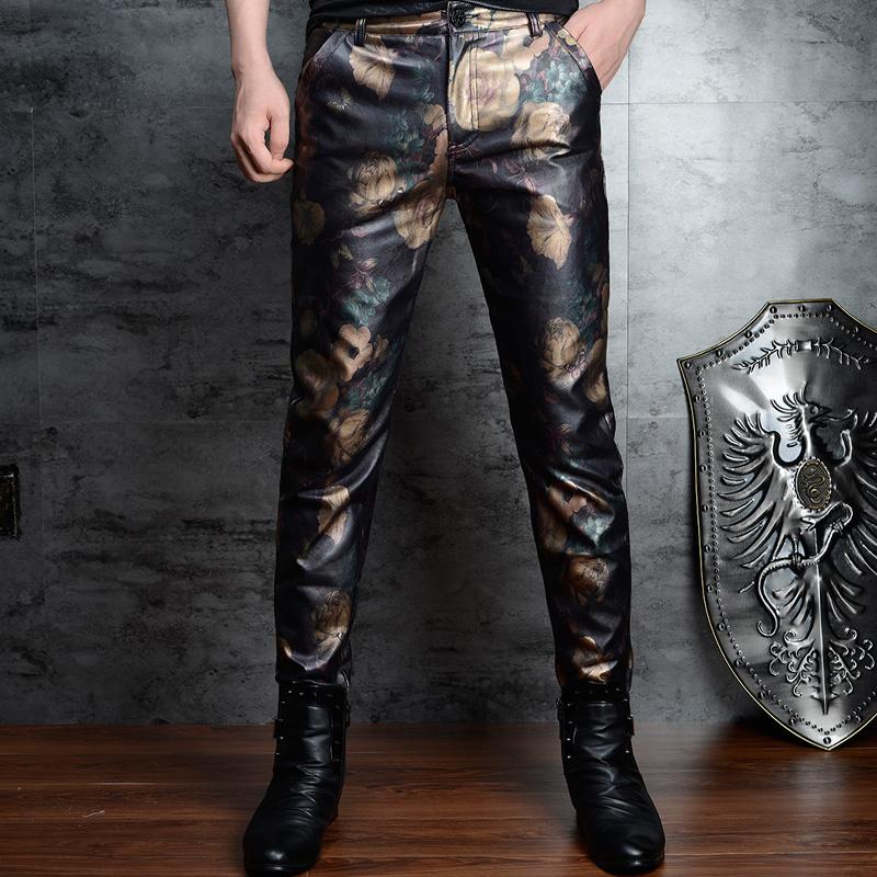 Кожаные брюки Артикул 608165269928