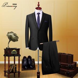 西服套装男士四季西装三件套修身韩版职业正装伴郎团新郎结婚礼服