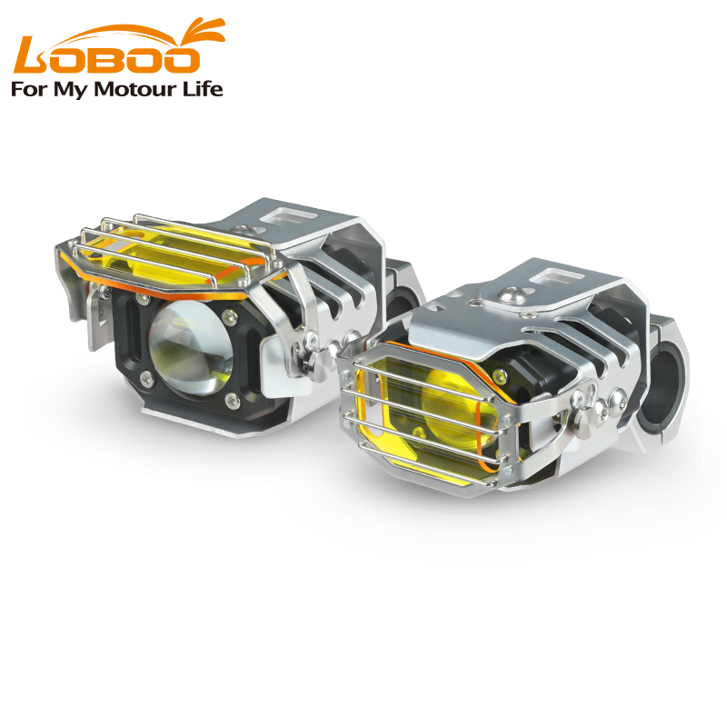 Loboo turnip motorcycle spotlight refitting accessories super bright LED headlight explosion flash strong light auxiliary light turn light