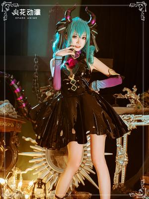 taobao agent Spark anime hatsune miku cos suit hatsune little devil miku game suit cute cosplay costume female