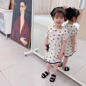女童夏装连衣裙2020新款韩版儿童碎花雪纺公主裙夏季宝宝洋气裙子