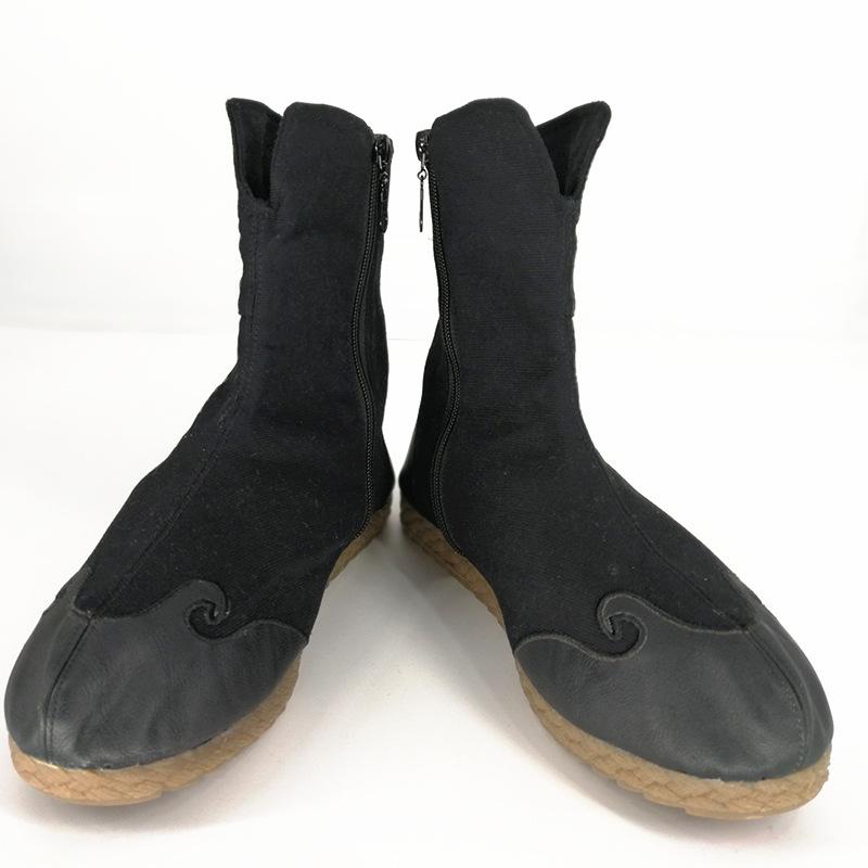 休闲棉靴男 国风冬季新款加厚男鞋橡胶底 休闲复古男式靴子