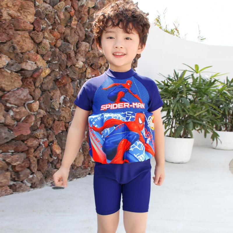 宝宝婴幼儿学游泳儿童浮力泳衣男童女孩连体卡通泡温泉浮力游泳衣(非品牌)